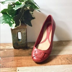 Naturalizer N5 Comfort Red Leather Flats